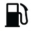 Symbol showing, in silhouette, the front view of a gas pump.