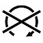 Symbol showing an arrow pointing clockwise and forming three quarters of a circle open on the bottom with an X through the circle.