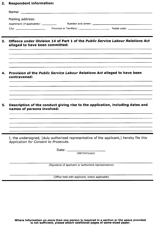 Continued Form 18 (Section 60) Application for Consent to Prosecute