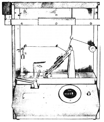 Photograph of flammability tester.