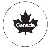 "Figure 2 is a circle, in the middle of which is a black maple leaf that has the word ""Canada"" written within it."