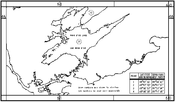 Map of Sealing Areas with latitude and longitude coordinates for four points outlining the areas.